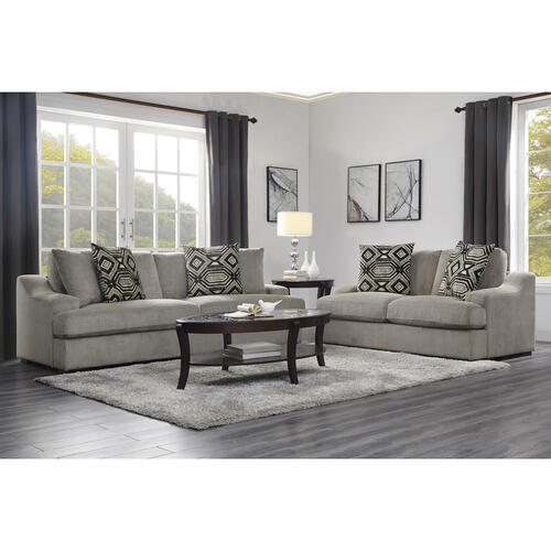 Homelegance - Love Seat with 2 Pillows