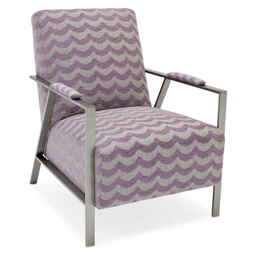 Sam Moore Living Room Nora Brushed Metal Chair