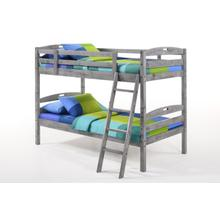 Sesame Twin Twin Bunk in Rustic Gray Finish
