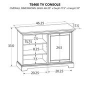 TS46E Custom TV Console Product Image