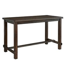 See Details - Rectangular Counter Table - Dark Walnut Finish
