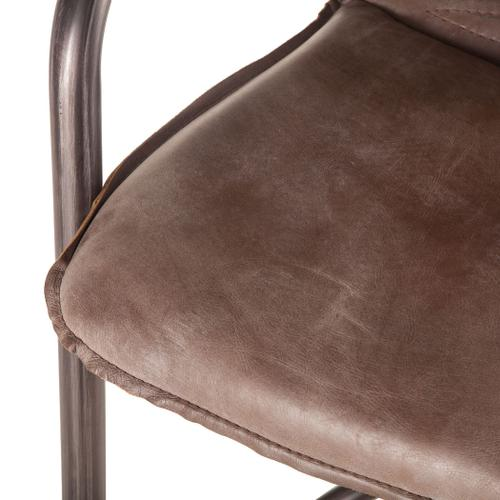 Product Image - Portofino Leather Counter Chair Jet Brown
