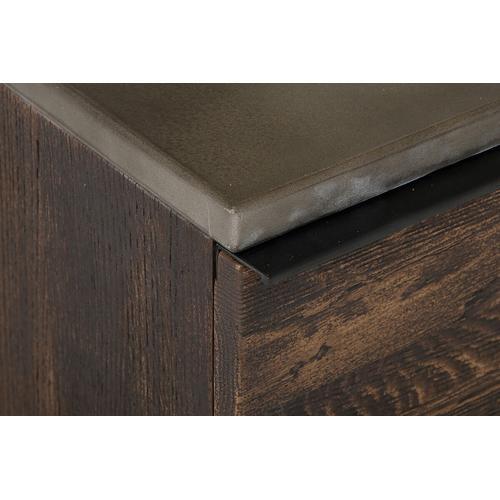 VIG Furniture - Modrest Selma Modern Dark Aged Oak and Concrete Top Chest