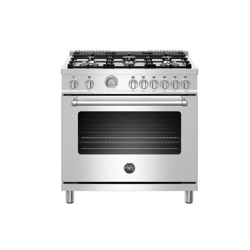 "Bertazzoni - 36"" Master Series range - Gas oven - 6 brass burners - LP version"