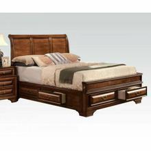 ACME Konane Queen Bed w/Storage - 20450Q KIT - Brown Cherry