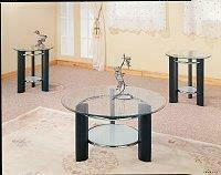 Set of Three Glass Table Tops