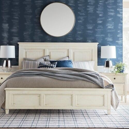 Shoreline Cal King Panel Bed, Footboard Low