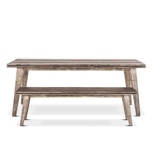 "Driftwood 78"" Dining Table Weathered Graywash"