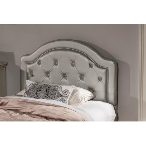 Karley Twin-size Headboard, Silver Faux Leather