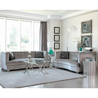 Caldwell Silver Two piece Living Room Set