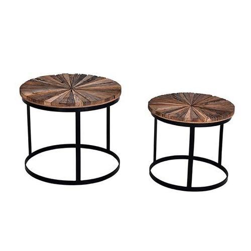 Progressive Furniture - Bunching Tables- 2/CTN - Reclaimed Natural/Iron Finish