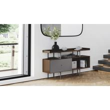 View Product - Margo 5211 Console in Toasted Walnut Fog Grey