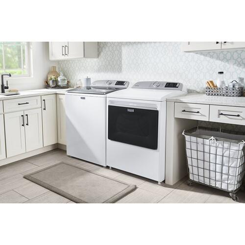 Smart Top Load Gas Dryer with Extra Power Button - 7.4 cu. ft.