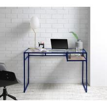di, blue office desk