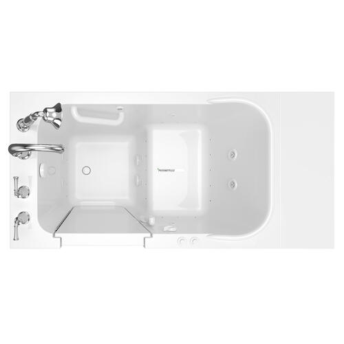 American Standard - Gelcoat Value Series 28x48-inch Walk-in Tub with Combo Air Spa and Whirlpool System  American Standard - White