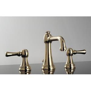 Tower Collection Widespread Faucet in Satin Orobrass