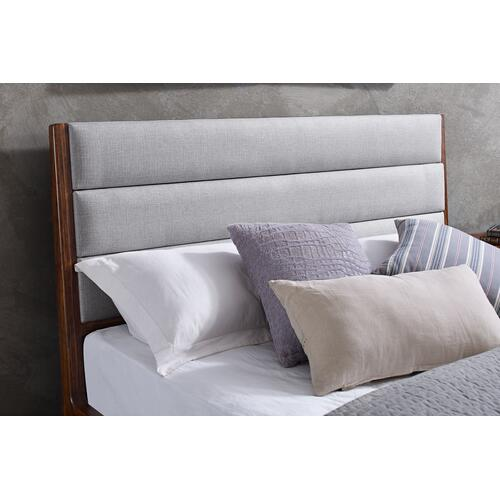 Greenington Fine Bamboo Furniture - Mercury Upholstered Queen Platform Bed, Exotic