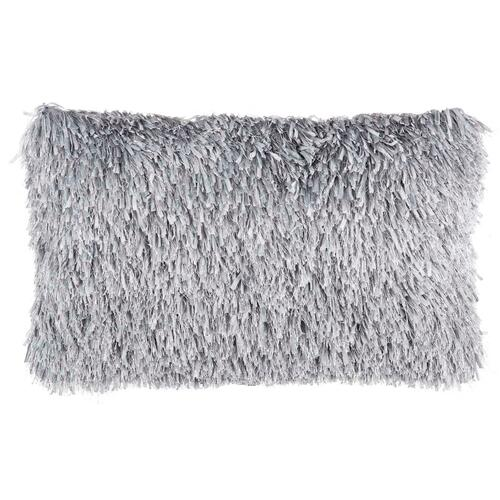 "Shag Tl048 Light Grey 14"" X 24"" Throw Pillow"