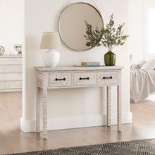 See Details - North Coast 3 Drawer Accent Console - White Wash