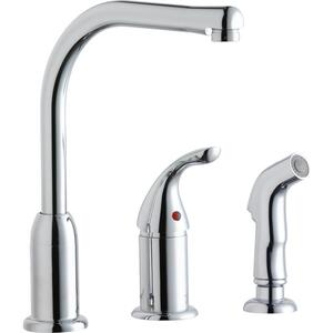 Elkay Everyday Kitchen Deck Mount Faucet with Remote Lever Handle and Side Spray Chrome Product Image