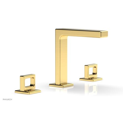 """MIX Widespread Faucet - Ring Handles 6-3/4"""" Height 290-03 - Satin Gold"""