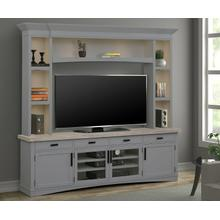 See Details - AMERICANA MODERN - DOVE 92 in. TV Console with Hutch and LED Lights