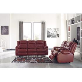 Vacherie Reclining Sofa & Console Loveseat Salsa