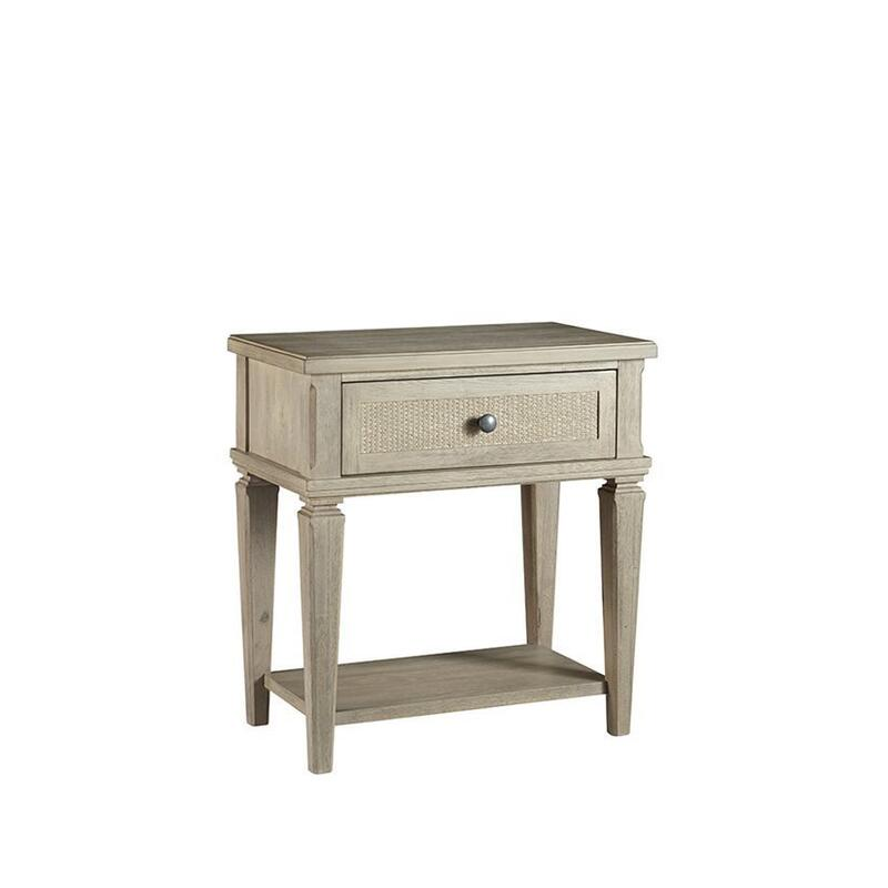 One Drawer Nightstand - Flax Finish