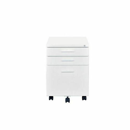 ACME Peden File Cabinet - 92882 - Contemporary - Metal (Steel), Casters - White