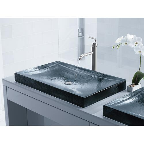 Ice Glass Vessel Bathroom Sink