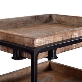 See Details - Storage Shelf - Natural/Iron Finish