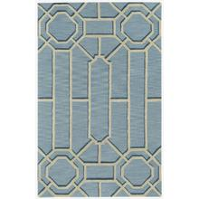 Fretwork Lt. Blue Hand Tufted Rugs