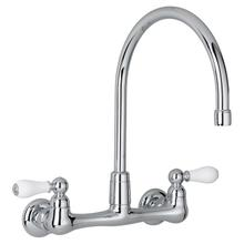 View Product - Heritage 2-Handle High-Arc Wall-Mount Kitchen Faucet  American Standard - Polished Chrome