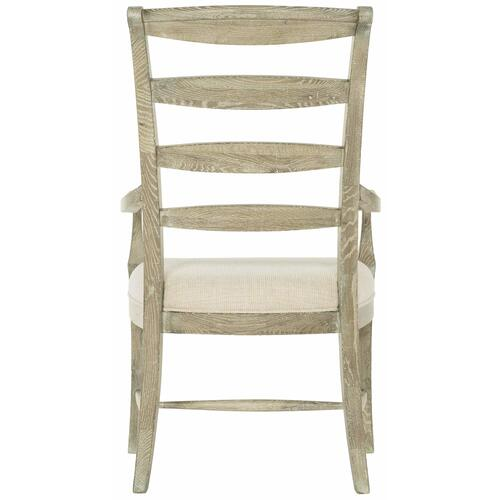 Rustic Patina Ladderback Arm Chair in Sand (387)
