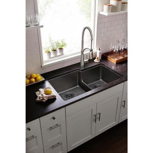 Elkay - Elkay Avado Single Hole Kitchen Faucet with Semi-Professional Spout Forward Only Lever Handle Lustrous Steel