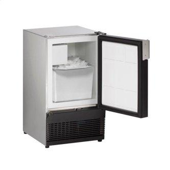 """15"""" Crescent Ice Maker With Stainless Solid Finish (115 V/60 Hz Volts /60 Hz Hz)"""