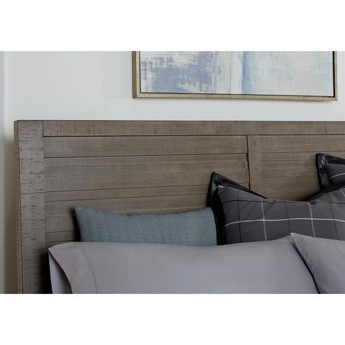 Ruff Hewn King / California King Panel Bed Headboard in Weathered Taupe