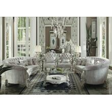 ACME Versailles Sofa w/5 Pillows - 52085 - Ivory Velvet & Bone White