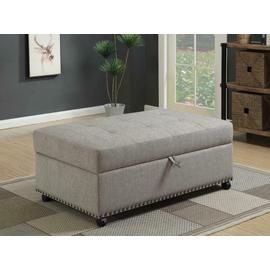 See Details - Traditional Dove Grey Sleeper Ottoman