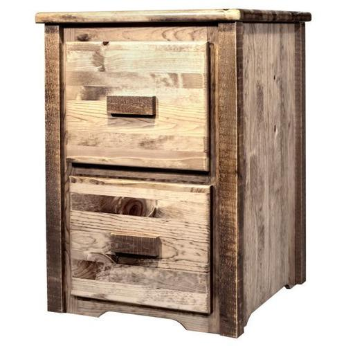 Montana Woodworks - Homestead Collection 2 Drawer File Cabinet, Stain and Lacquer Finish