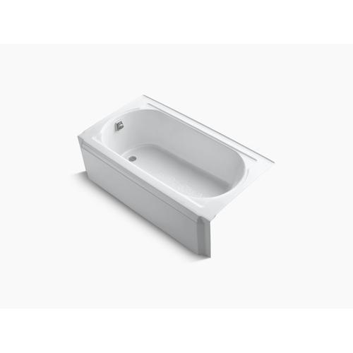 "White 60"" X 32"" Alcove Bath With Left-hand Drain"