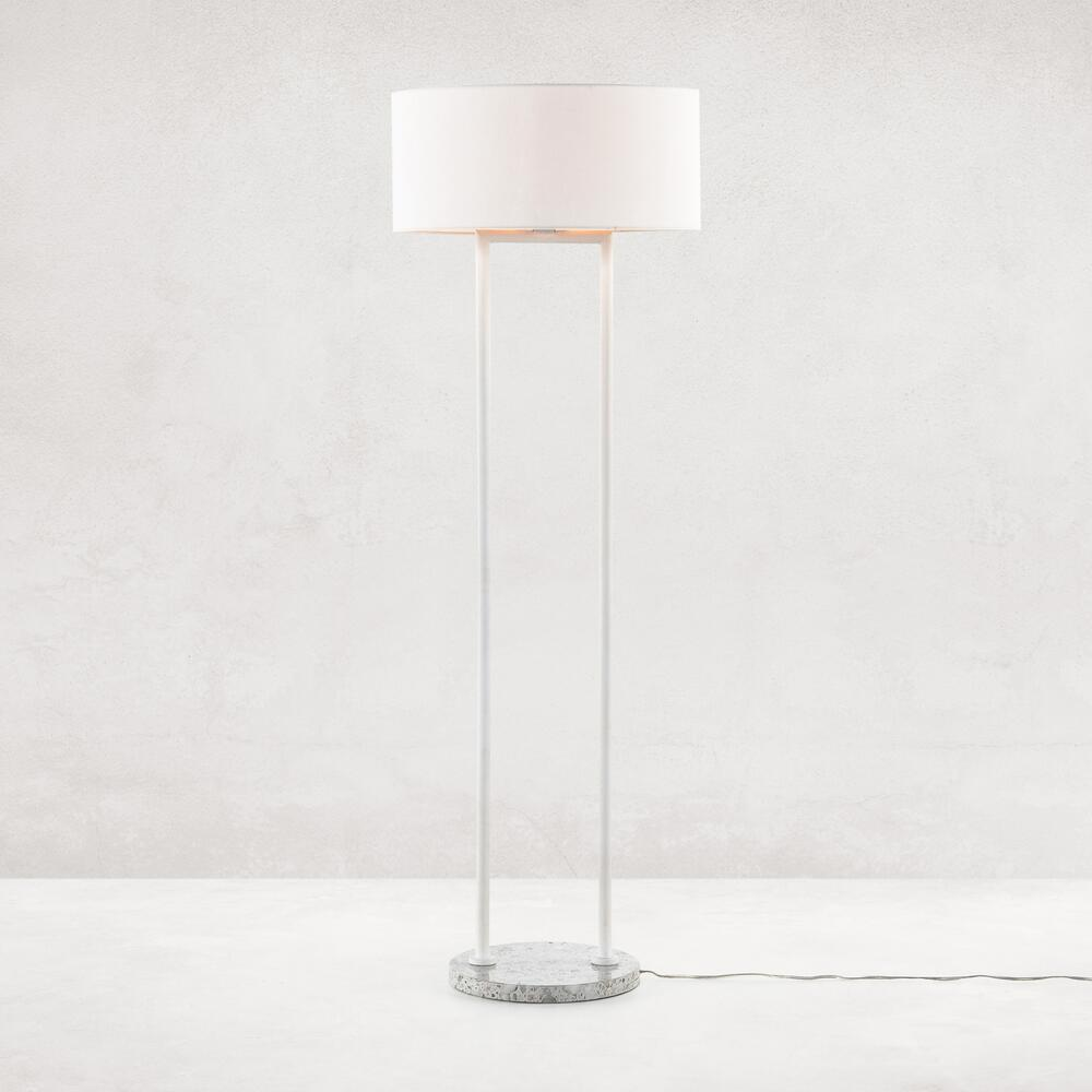 Noma Floor Lamp-polished White Terrazzo
