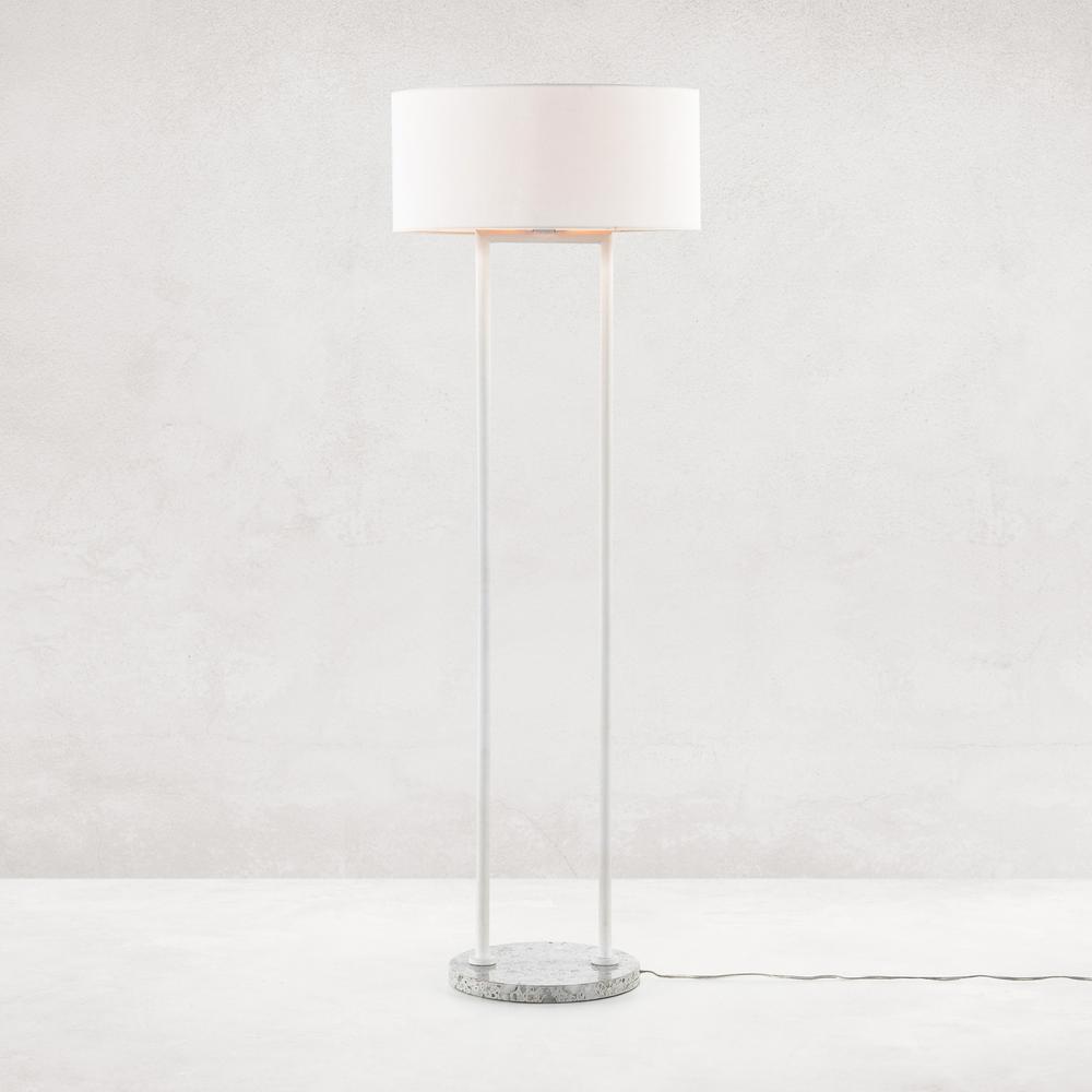 Noma Floor Lamp-polished White Terrazzo