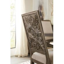 See Details - Woodlands Carved Back Arm Chair - 2 per carton/price ea