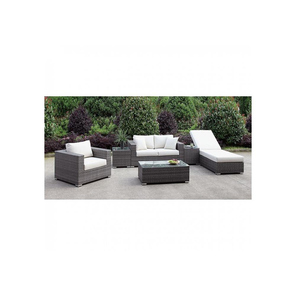 See Details - Somani Love Seat + Chair + Adj Chaise + 2 End Tables + Coffee Table