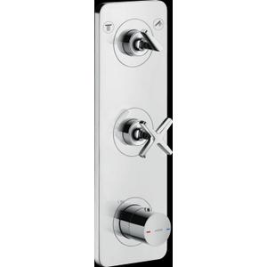 """AXOR - Chrome Thermostatic Module Trim 15"""" x 5"""" for 2 Functions"""