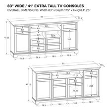 Howard Miller Extra Tall Custom TV Console XT83C