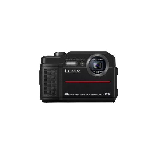 LUMIX TS7 Waterproof Tough Camera, 20.4 Megapixels, 4.6X Zoom Lens - BLACK - DC-TS7K