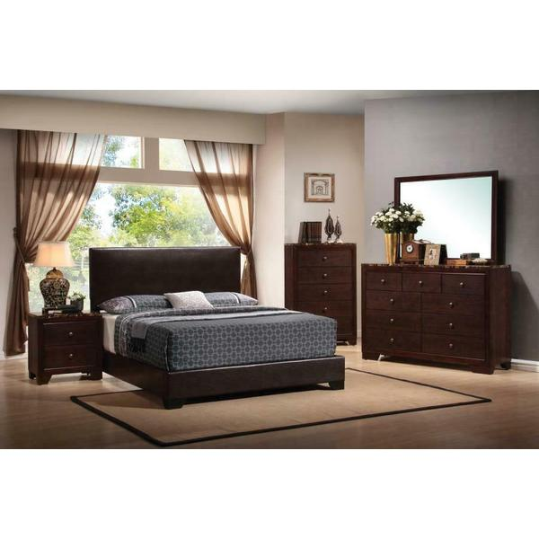 See Details - Conner Casual Dark Brown Queen Four-piece Set