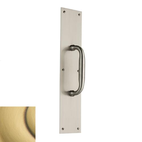 Baldwin - Satin Brass and Brown 2560 Pull x 2123 Pull Plate